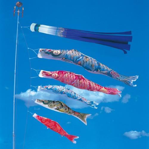 鯉のぼり こいのぼり 錦鯉 彩雲錦鯉 4m 8点 5色 鯉5匹 大型セット