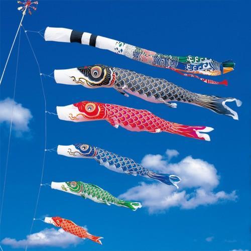 鯉のぼり こいのぼり 錦鯉 金寿鯉 6m 8点 5色 鯉5匹 飛龍吹流し 大型セット