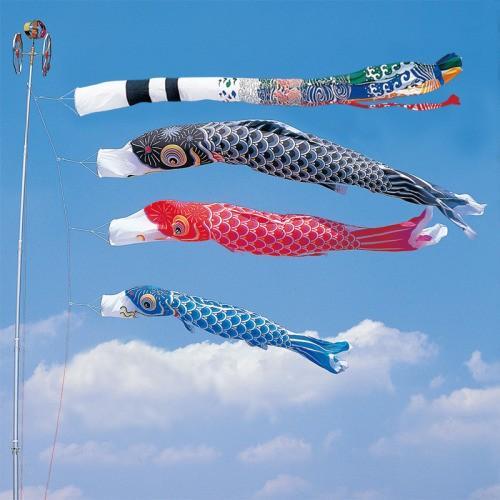 鯉のぼり こいのぼり 錦鯉 かなめ鯉 6m 6点 3色 鯉3匹 飛龍吹流し 大型セット