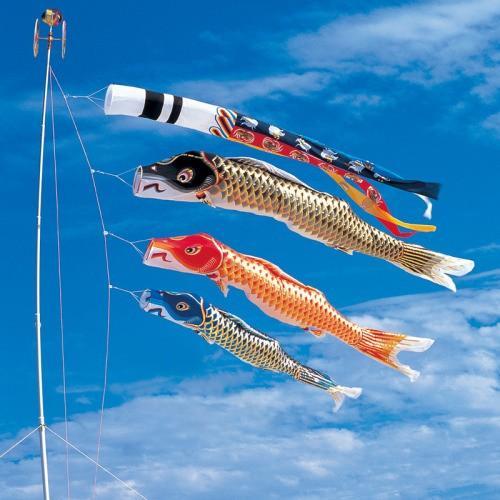 鯉のぼり こいのぼり 錦鯉 江戸錦鯉 1.5m ベランダタイプ 瑞祥吹流し ホームセット Aタイプ 15号