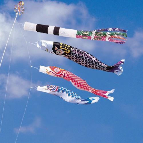 鯉のぼり こいのぼり 錦鯉 綾錦鯉 1.5m ベランダタイプ スパン飛龍吹流し ホームセット Aタイプ 15号