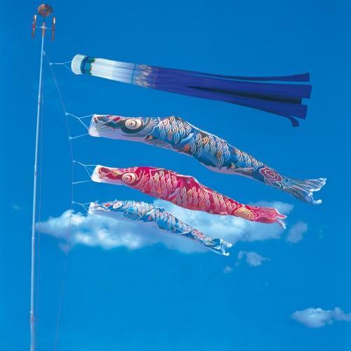 鯉のぼり こいのぼり 錦鯉 彩雲錦鯉 1.5m ベランダタイプ ホームセット Bタイプ 15号
