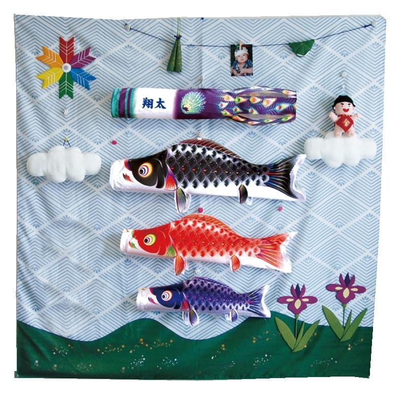 室内鯉のぼり 徳永鯉 キャンバス鯉のぼり 集 星歌友禅 室内飾り鯉のぼり 室内鯉飾り こいのぼり