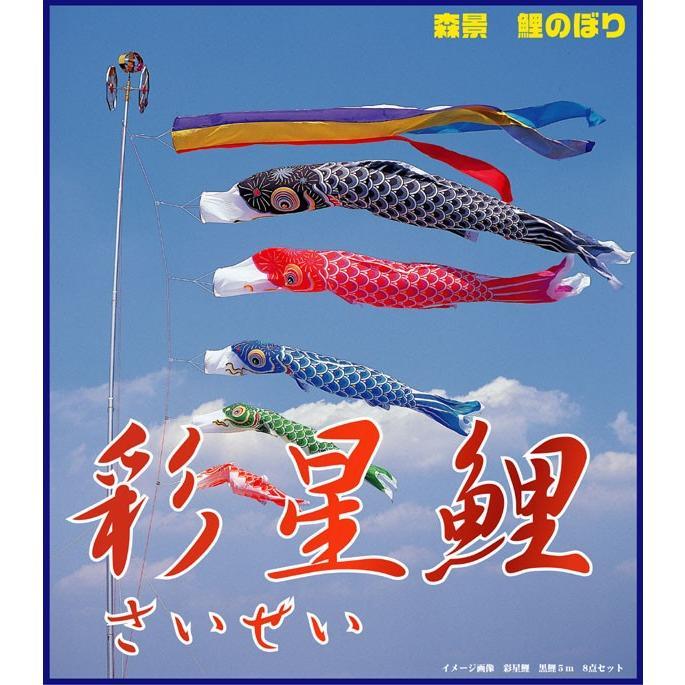 彩星 5m 7点 鯉4匹 森景オリジナル鯉のぼり7点セット