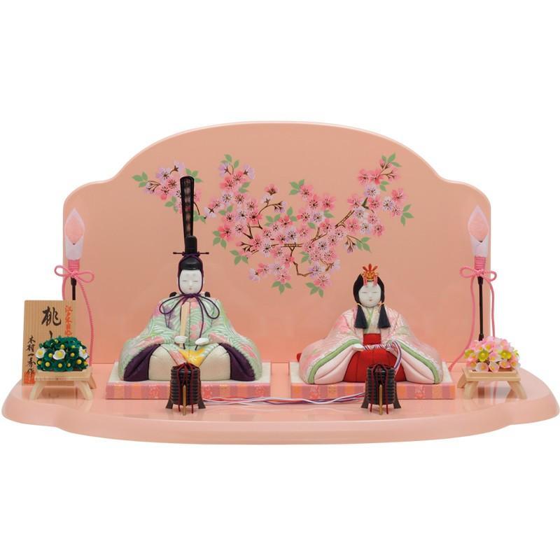 雛人形 一秀 コンパクト 木目込み 親王飾り 平飾り H-15
