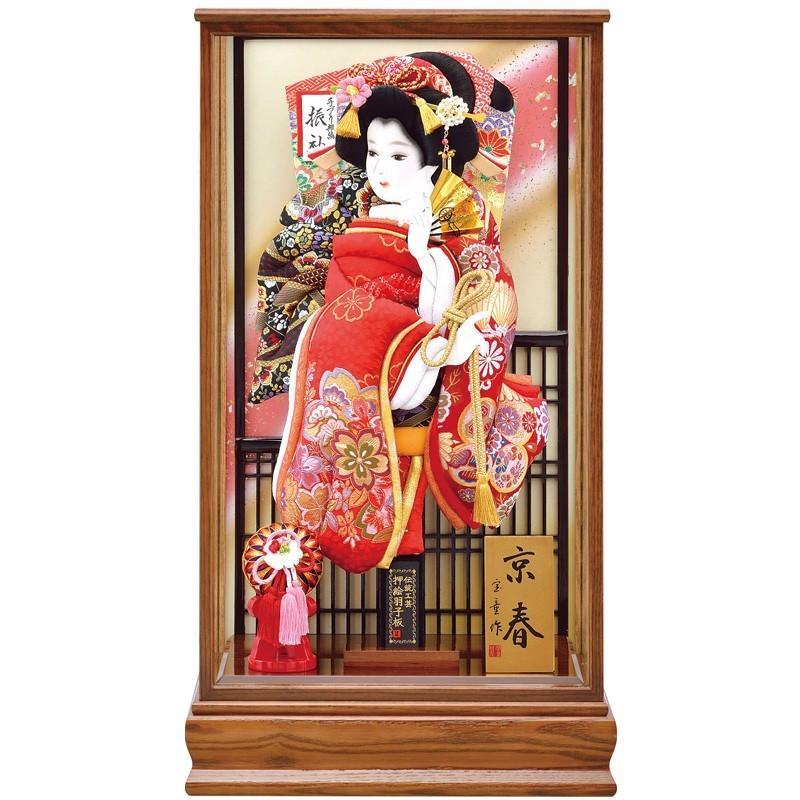 羽子板 お祝い ケース飾り 20号 新京春 宝童 HD20-023-20 同時購入にて木札1円対象商品