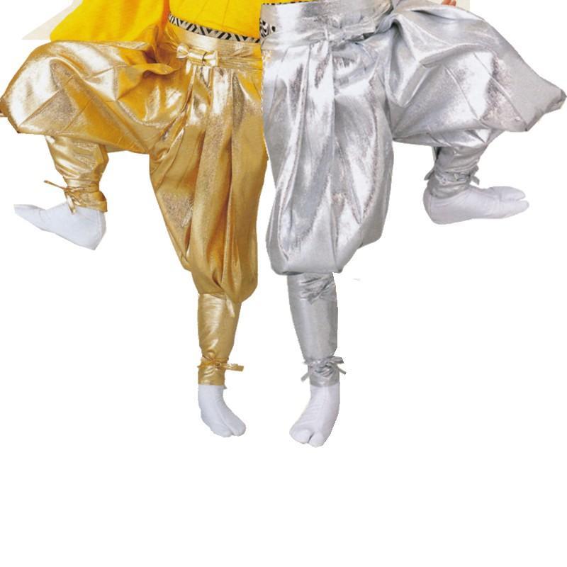 お祭り用品 手古舞衣装 たっつけ袴 金・銀 小-大 お祭用品/祭用品/お祭り 8712・8713