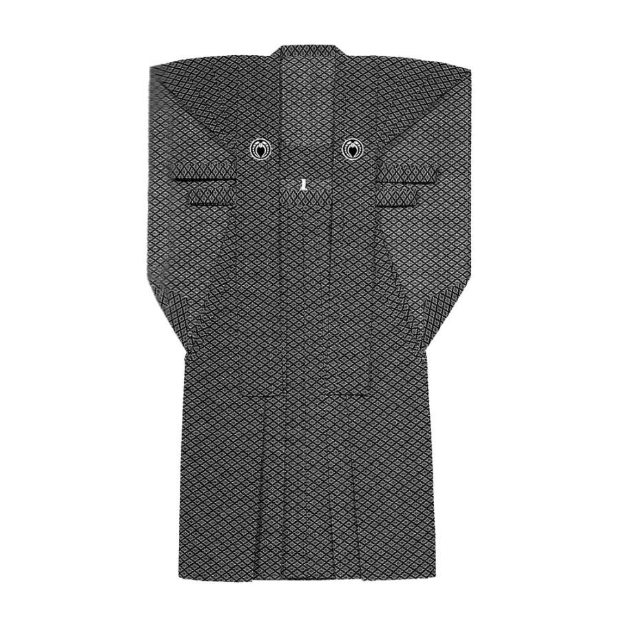 お祭り用品·衣装 裃 かみしも M·L 石持 菊菱柄 染 C25435