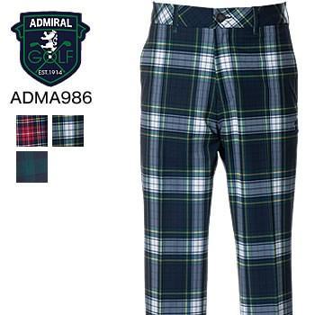 アドミラルゴルフ Admiral Golf タータンチェック テーパードパンツ ADMA986 2019年秋冬モデル