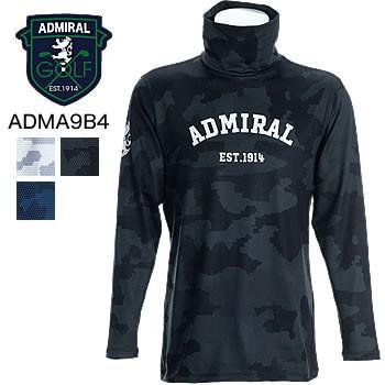 アドミラルゴルフ Admiral Golf カモ 長袖タートルネックシャツ ADMA9B4 2019年秋冬モデル