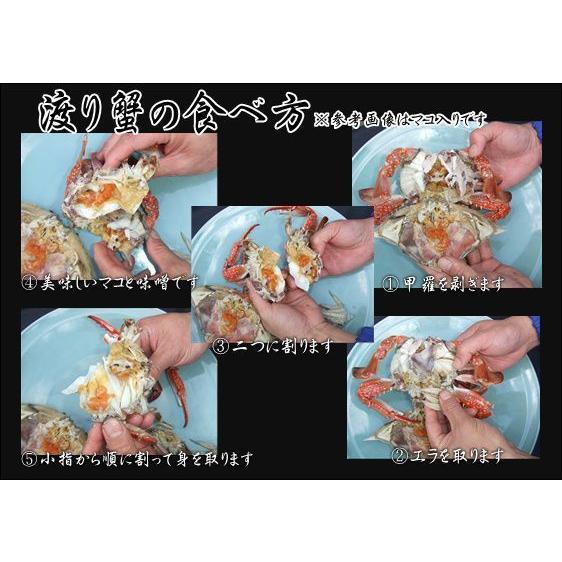 豊前海産 渡り蟹(ワタリガニ)メス 塩ゆで冷凍3尾(活き状態1尾400g〜499g) morita 03