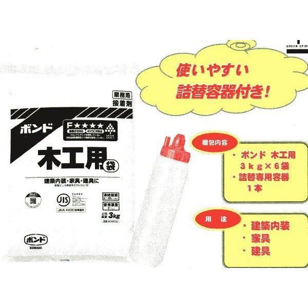 コニシ 木工用詰め替えセット 18K(3K×6)|moritada-05|02
