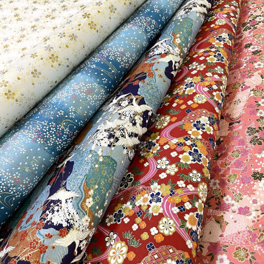 華やかな友禅紙 マーケティング 伝統柄 ショップ 着物柄など色柄おまかせ 大判 約63x93cm 5枚セット