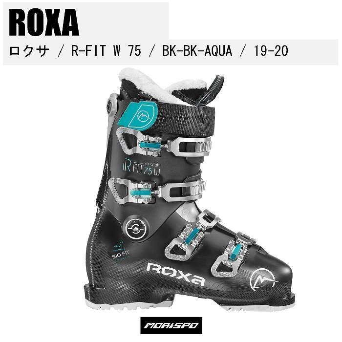 『2年保証』 ROXA ロクサ R FIT W 75 アールフィット 19-20 BLACK-BLACK-AQUA スキーブーツ   スキー 2020モデル, ストリートウェアショップGReeD dd4ef152