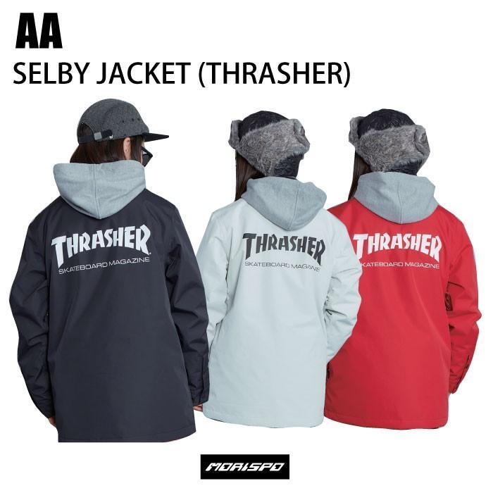 AA ダブルエー 72119312 レディース セルビージャケット 19-20 [モリスポ] ボードウェア コーチジャケット スラッシャー THRASHER スノボ ジャケット