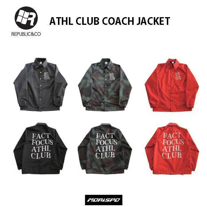 REPUBLIC&CO リパブリック ATHL CLUB COACH JK 18-19 [モリスポ] ボードウェア ライトジャケット