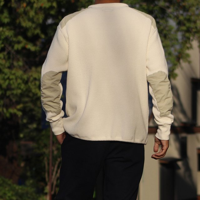 COLIMBO/コリンボ DUNE-CHURCH COBAT WAFFLE SHIRT (PLAIN TYPE) Snow|morleyclothing|06