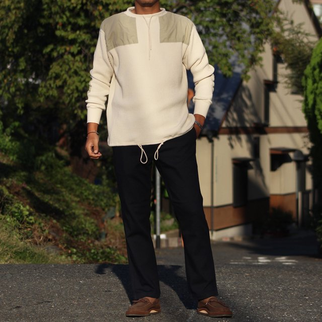 COLIMBO/コリンボ DUNE-CHURCH COBAT WAFFLE SHIRT (PLAIN TYPE) Snow|morleyclothing|07