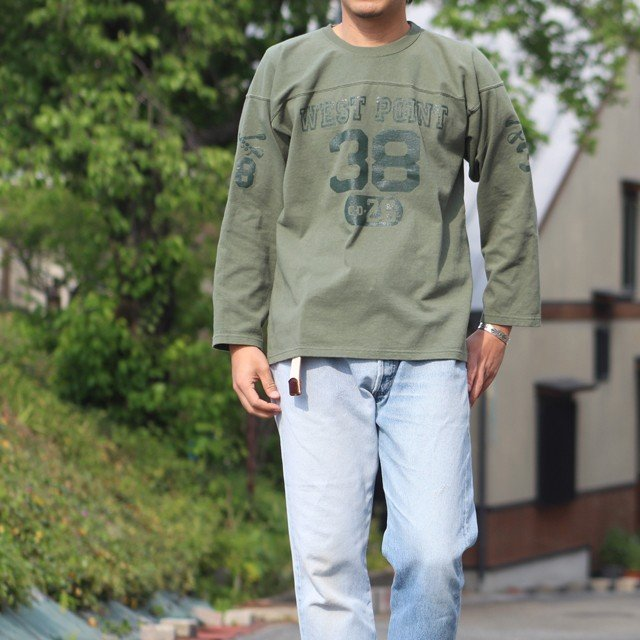 """COLIMBO/コリンボ FOOTBALL TEE """"West Point 38"""" Forest Green morleyclothing 06"""