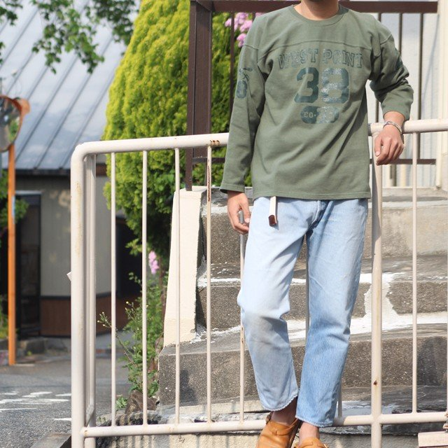 """COLIMBO/コリンボ FOOTBALL TEE """"West Point 38"""" Forest Green morleyclothing 08"""