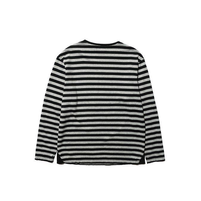 COLIMBO/コリンボ GLEN COVE STRIPED LONG-T Gray×Black|morleyclothing|02