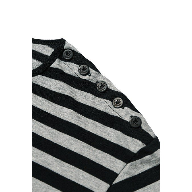 COLIMBO/コリンボ GLEN COVE STRIPED LONG-T Gray×Black|morleyclothing|03