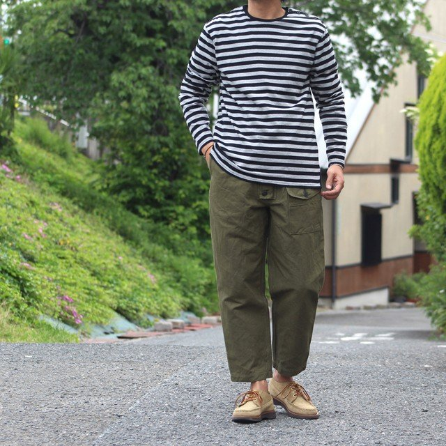 COLIMBO/コリンボ GLEN COVE STRIPED LONG-T Gray×Black|morleyclothing|06