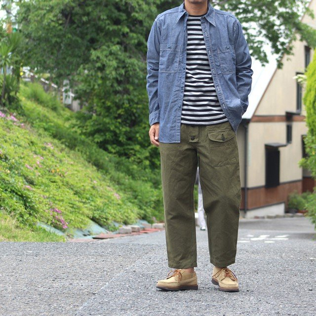 COLIMBO/コリンボ GLEN COVE STRIPED LONG-T Gray×Black|morleyclothing|07