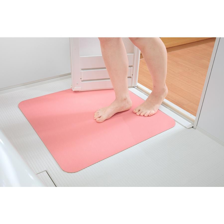 お風呂 洗い場 マット サンコー カット可能 滑り止め クッション性 ズレにくい ピンク グリーン|mos-mart|14