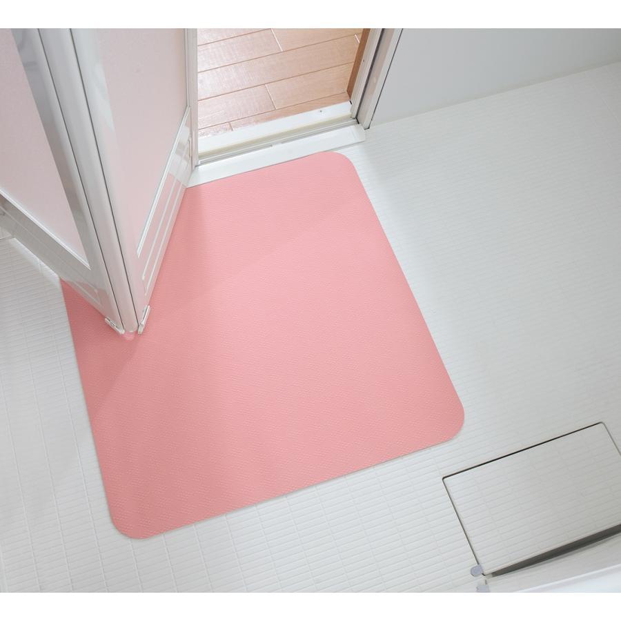 お風呂 洗い場 マット サンコー カット可能 滑り止め クッション性 ズレにくい ピンク グリーン|mos-mart|16