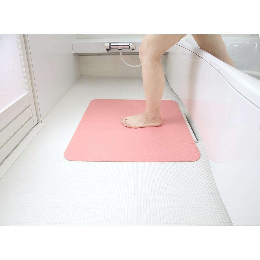 お風呂 洗い場 マット サンコー カット可能 滑り止め クッション性 ズレにくい ピンク グリーン|mos-mart|17