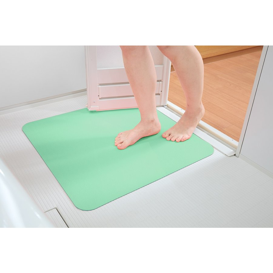 お風呂 洗い場 マット サンコー カット可能 滑り止め クッション性 ズレにくい ピンク グリーン|mos-mart|06