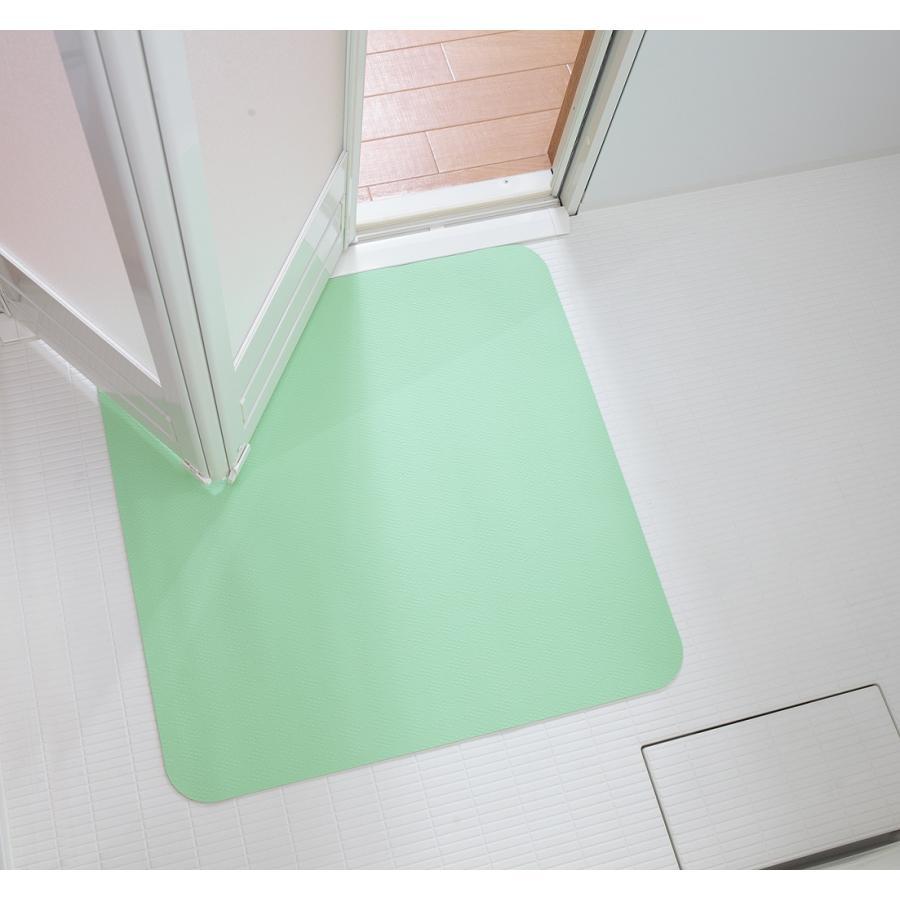 お風呂 洗い場 マット サンコー カット可能 滑り止め クッション性 ズレにくい ピンク グリーン|mos-mart|08