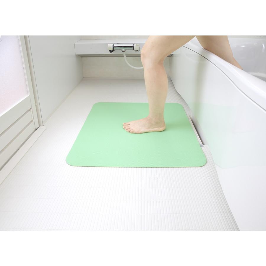 お風呂 洗い場 マット サンコー カット可能 滑り止め クッション性 ズレにくい ピンク グリーン|mos-mart|09
