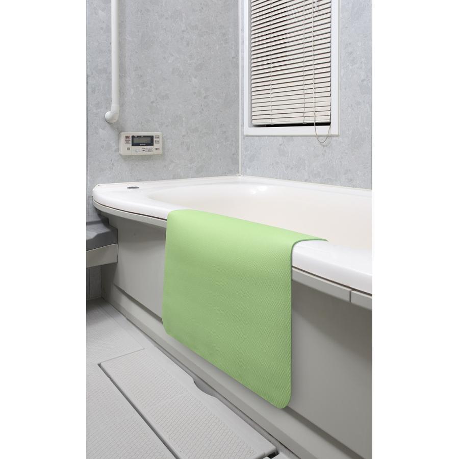 お風呂 洗い場 マット サンコー カット可能 滑り止め クッション性 ズレにくい ピンク グリーン|mos-mart|10