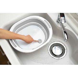 デイズ 折り畳み水切りバスケット&折り畳み洗い桶 キッチン計2点セット タマハシ 水まわり シンプル コンパクト シンク DAYS mos-mart 13