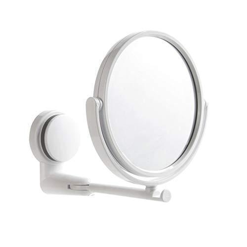 大決算セール TINKSKY 価格交渉OK送料無料 化粧鏡 浴室ミラー 洗面ミラー 風呂鏡 折りたたみ 360度回転 シングルミラー 新築 壁掛け 強力吸盤付き