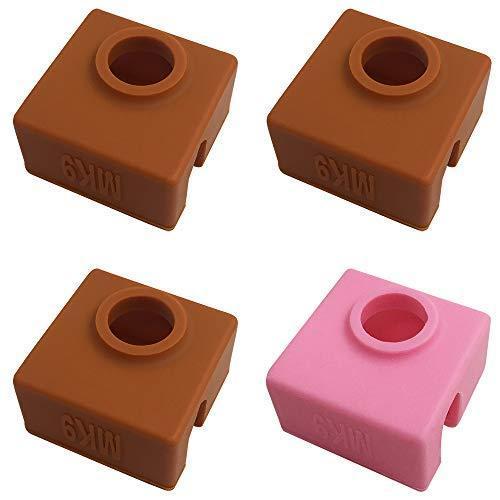 4個の3Dプリンターソックス互換性のあるMK7 MK8 MK9 Makerbotヒーターブロック、AFUNTA 3Dプリンター押出機用の耐熱シ|moshoten