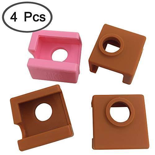 4個の3Dプリンターソックス互換性のあるMK7 MK8 MK9 Makerbotヒーターブロック、AFUNTA 3Dプリンター押出機用の耐熱シ|moshoten|02