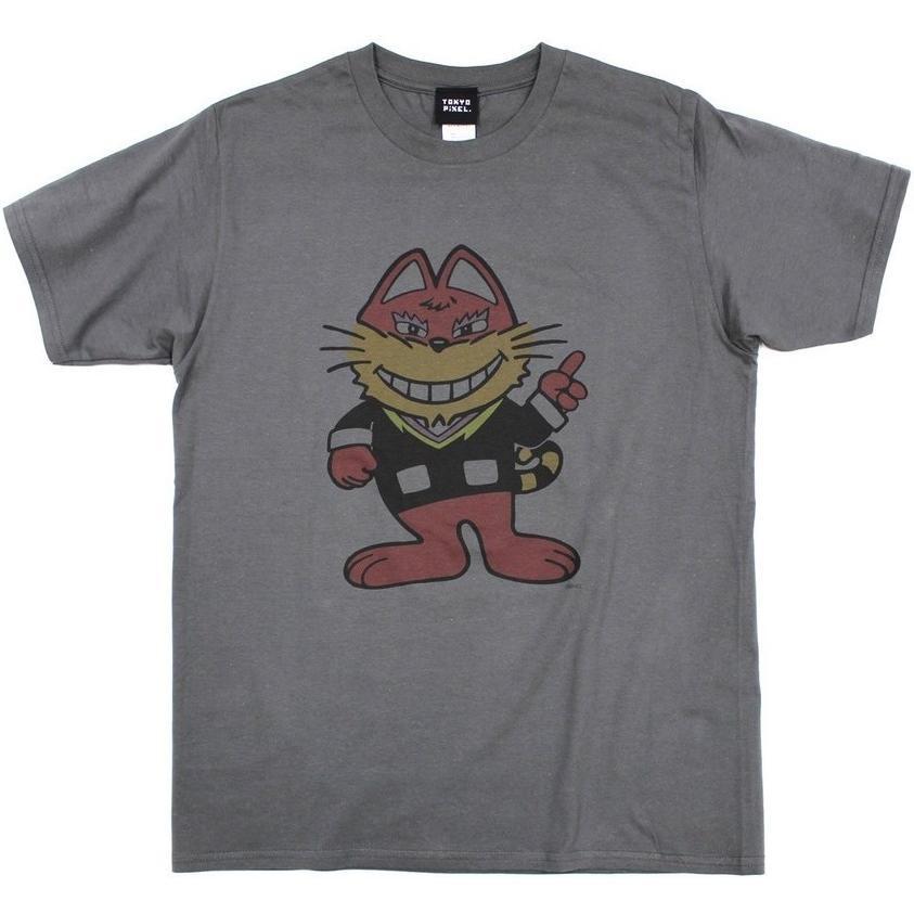 TOKYO PIXEL × マッピー ニャームコ Tシャツ チャコール ナムコ  |moshpunx|02