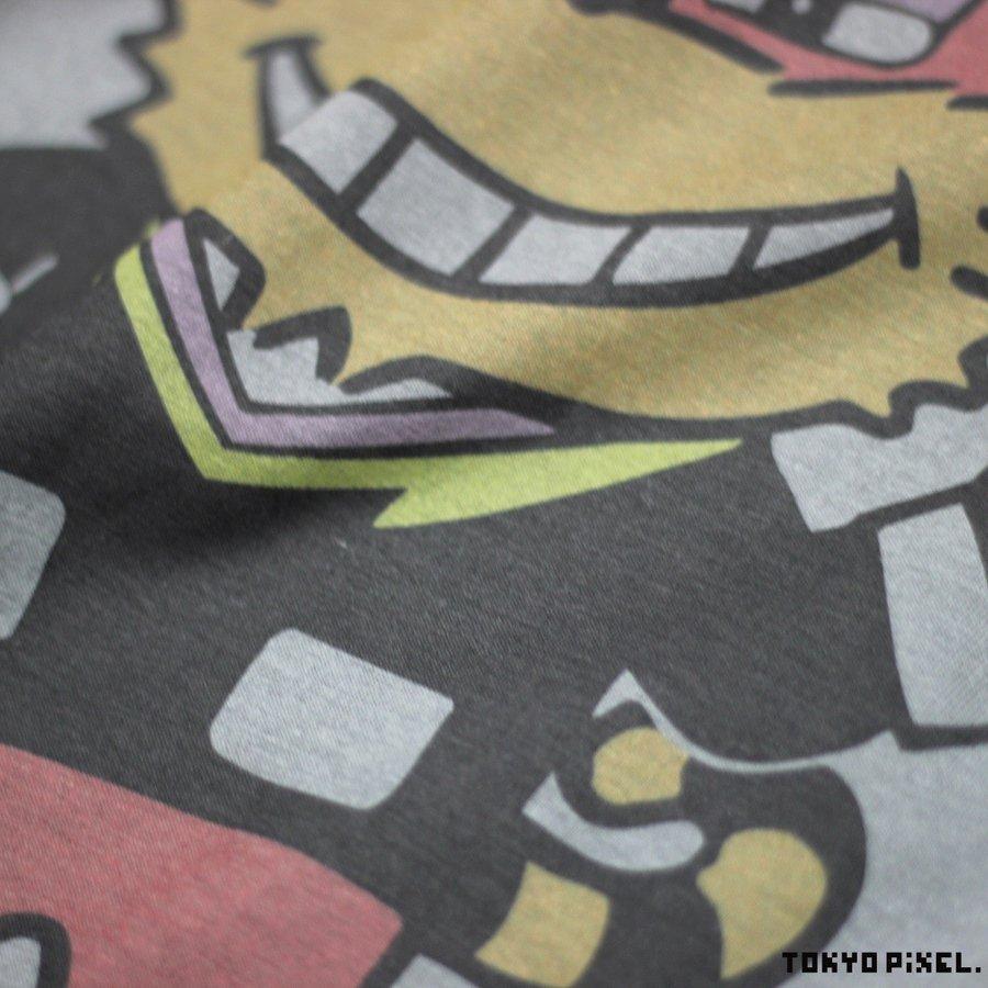TOKYO PIXEL × マッピー ニャームコ Tシャツ チャコール ナムコ  |moshpunx|03