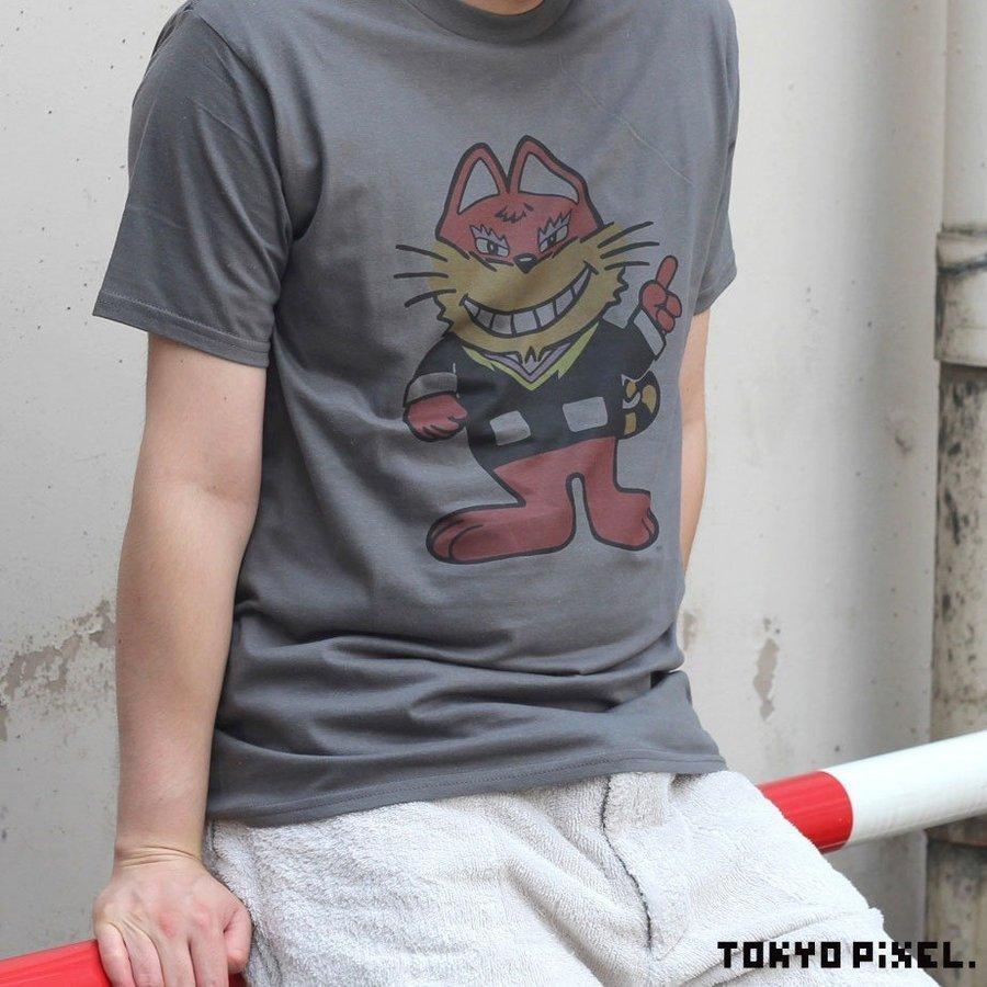 TOKYO PIXEL × マッピー ニャームコ Tシャツ チャコール ナムコ  |moshpunx|04