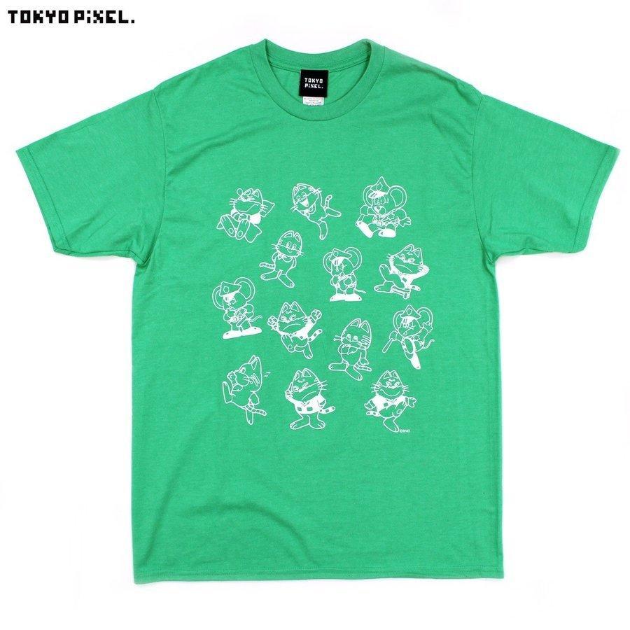 TOKYO PIXEL × マッピー 総柄 Tシャツ グリーン イエロー ナムコ   moshpunx 02