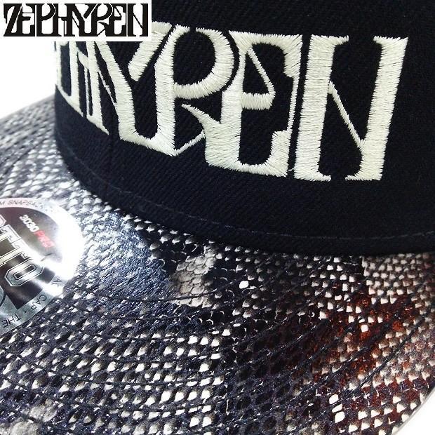 ZEPHYREN B.B CAP VISIONARY BLACK SNAKE ゼファレン キャップ|moshpunx|03