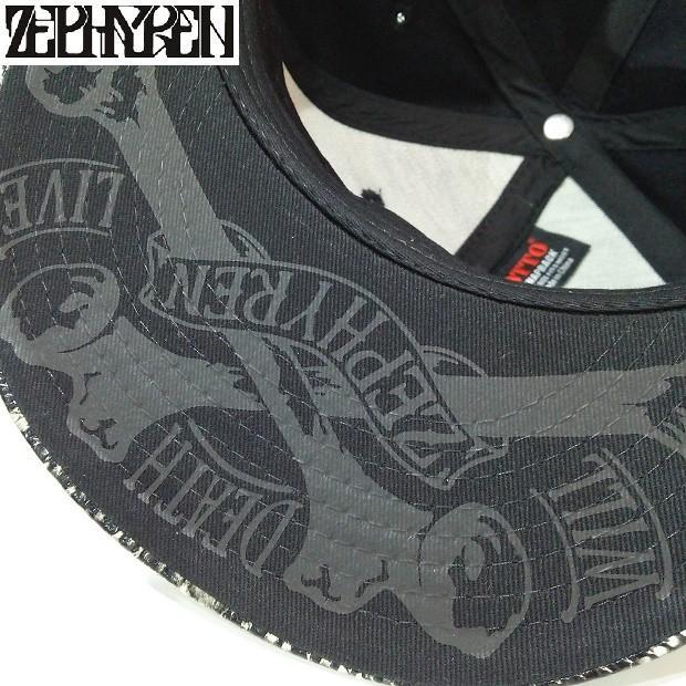 ZEPHYREN B.B CAP VISIONARY BLACK SNAKE ゼファレン キャップ|moshpunx|04