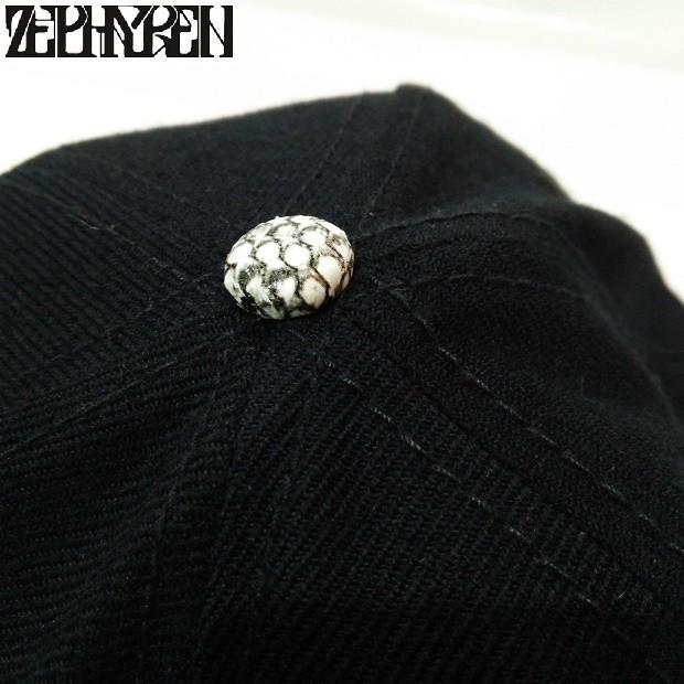 ZEPHYREN B.B CAP VISIONARY WHITE SNAKE ゼファレン キャップ moshpunx 06