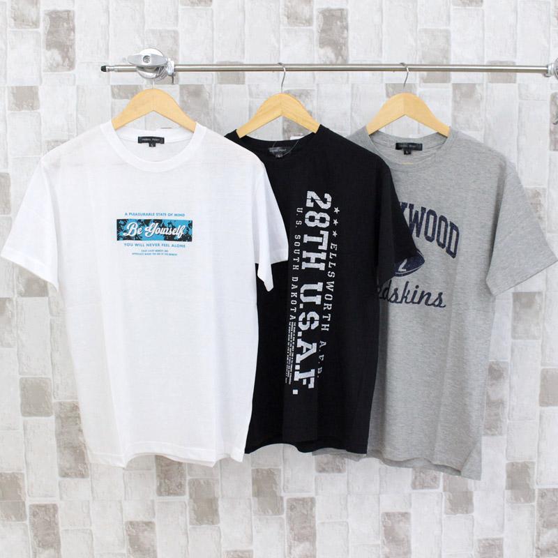 Tシャツ メンズ 半袖 アメカジ ロゴT 文字 プリントTシャツ クルーネック トップス カットソー メンズファッション 部屋着 ルームウェア パジャマ mostshop