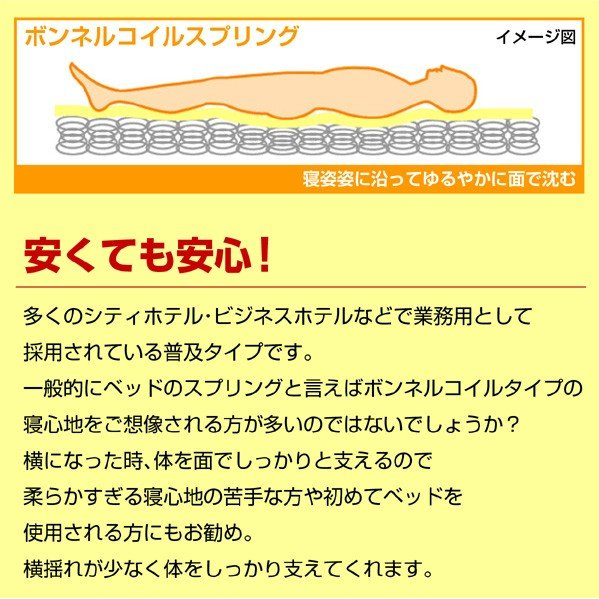 ボンネルコイルマットレスセミダブル-ART mote-kagu 03
