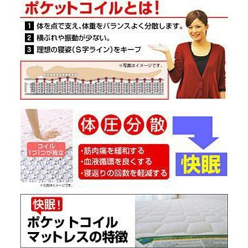 ポケットコイルマットレス セミダブル-ART mote-kagu 02