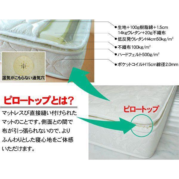 低反発ポケットコイルマットレスDMP-5858-ART セミダブル(片面ピロートップ)|mote-kagu|02